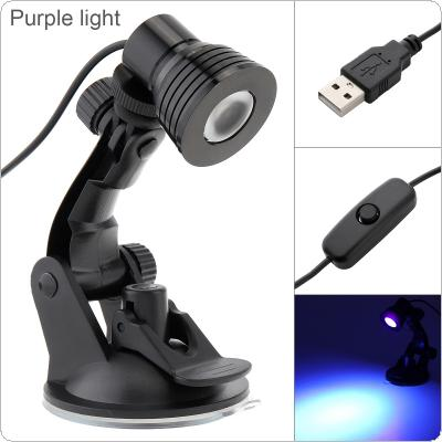 3W USB UV Purple Light Powered Table Lamp Flexible Eye Protection Desk Suction Cup Lamp Bedroom Living Room Decoration Lamp for Study / Reading / Work