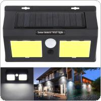 Outdoor Waterproof Conjoined Double 96 COB LED Rechargeable Solar Power PIR Motion Sensor Wall Light for Garden / Yard / Driveway / Courtyard