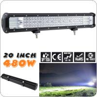 Quad Rows 20 Inch 480W 160Pcs LED Strip LED Light Bar Work Light Combo Beam for Driving Offroad Boat Car Tractor Truck 4x4 SUV