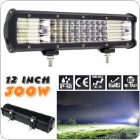 Quad Rows 12 Inch 300W 100Pcs LED Strip LED Light Bar Work Light Combo Beam for Driving Offroad Boat Car Tractor Truck 4x4 SUV