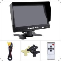 7 Inch TFT LCD Color Digital 2 Way Video Input Security Monitor Screen with Sunshade Hood