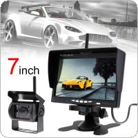 7 Inch TFT LCD Car Monitor Wireless Version HD Display Camera Reverse Assistance Camera Paking System with 18IR LED camera