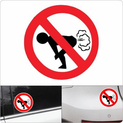 12 x 12CM PET No Farting Warning Mark Funny Pattern Car Motorcycle Body / Bumper / Hood / Scratch Sticker
