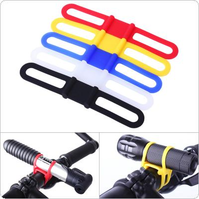 5 Colors Bicycle Bike Elastic Silicone Strap Cycling Light Holder Flashlight Bandages Portable Fixing Goods Elastic Tie Rope