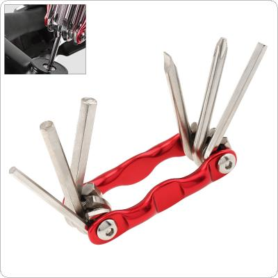 Six in One Portable Multifunctional Bicycle Tool Kit with Screwdrivers and Wrenches