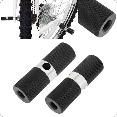 Aluminum Nonslip MTB Bike 1Pair Bicycle Pedal Front Rear Axle Foot Pegs BMX Footrest Lever Cylinder Bike Accessories