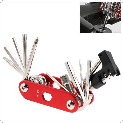 14 in 1 Portable Multifunctional Bicycle Tool Kit with Chain Cutter and Wrenches