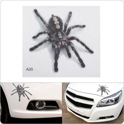 17. 5 x 16CM PVC Black Spider Pattern Stereoscopic Transparent Frosted Car Motorcycle Body / Bumper / Hood / Scratch Sticker