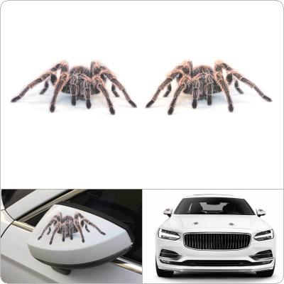 2pcs/set 17. 5 x 16CM PVC  Red Spider Pattern Stereoscopic Transparent Frosted Car Motorcycle Body / Bumper / Hood / Scratch Sticker