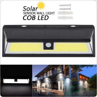 180 COB 1000LM Switch Three-sided Lighting ABS PIR Motion Sensor Solar Lamp 3 Modes Waterproof Solar Sensor Wall Light for Parks / Security Emergency Street