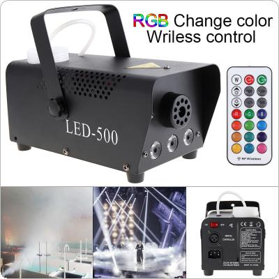 Wireless Control LED 500W Smoke Machine RGB Color LED Fog Machine LED Fogger Stage Smoke Ejector with Indicate Light for Bar / KTV