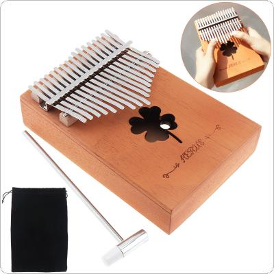 17 Key Kalimba Single Board Mahogany Lucky Grass Sound Hole Thumb Piano Mbira Mini Keyboard Instrument