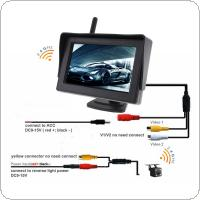 4.3 Inch Wireless HD Rearview Monitor Auto Parking System Built-in Antenna  with  Camera