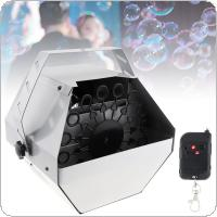 110-240V 60W 0.75L Small Auto Bubble Machine Auto High Output Effect Bubble Machine Maker Blower with Remote Control for DJ Bar /Stage / Wedding / Party
