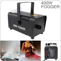 Wire Control 400W Smoke Machine Hood Fog Machine Professional Fog Machine Smoke Ejector for Wedding / Stage / Bar / KTV