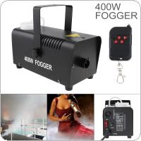 Wire Control 400W Smoke Machine Hood Fog Machine Professional Fog Machine Smoke Ejector with Remote Control for Wedding / Stage / Bar / KTV