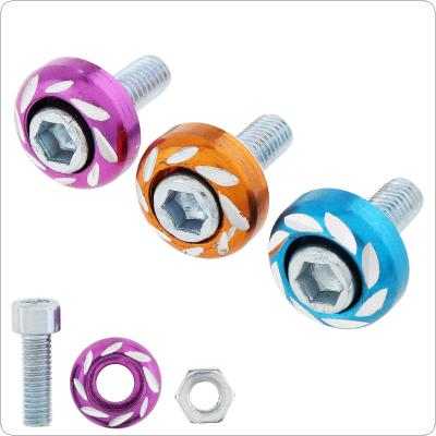 1 Pcs 6mm Motorcycle License Plate Round Carved Colorful Screw Bolt Plate Nut Aluminum Alloy Screw for Motorcycle / Electric Vehicle