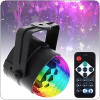 Remote Control Colorful Sound Activated Rotating Disco Ball Party Lights Strobe Light 3W RGB LED Stage Lights for Christmas Home KTV Xmas Wedding Show DJ Bar