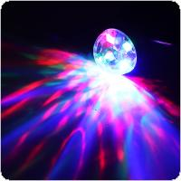 4W Mini USB LED Sound Active Light Crystal Magic Ball RGB Colorful Stage Light with TYPEC Interface Support Phone Decoration Lamp for Home / Car / KTV