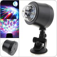 5V 3W USB LED Car DJ Colorful Stage Light Crystal Magic Atmosphere Lamp Decoration Light for Stage / DJ Bar / KTV / Car