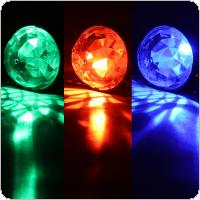 LED USB Mini Auto Voice Control Crystal Magic Ball Disco Lights Projector Effect Karaoke Decoration Light for Car / DJ Bar / Stage