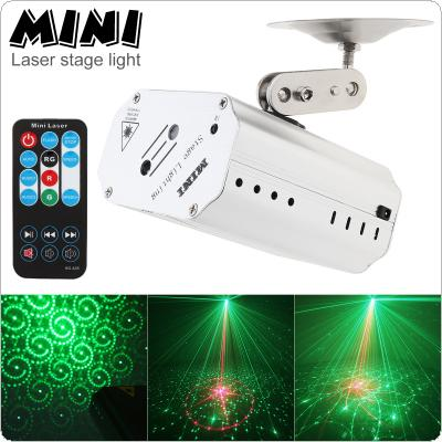Double Hole Voice Control Music Rhythm Flash Light LED Laser Projector Stage DJ Disco Light with Remote Control for Club / Dancing / Party Light / Stage Effect