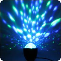 3W 5V USB Mini Voice Control DJ Lamp Small Crystal Magic Ball Stage Light Sound Active Multicolor Magic Effect Lamp for Birthday Party / DJ Bar / Car