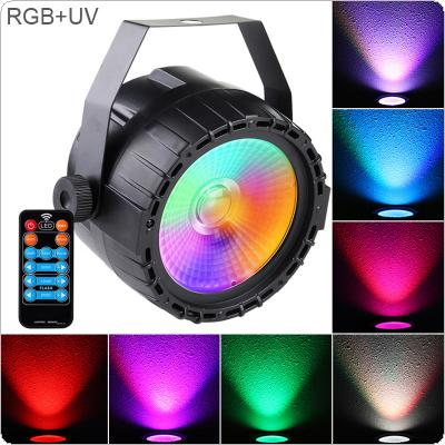 30W 90-240V Mini LED Stage Light Par Light COB RGB UV Self-propelled Voice Control Light with Voice Control / DMX512 for DJ Bar / Party / KTV / Stage