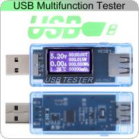 8-in-1 USB Current And Voltage Detector Digital Display 4V-30V Tester Current Voltage Charger Capacity Monitor