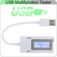 DC 4-30V 0-5A 0-150W Mini Dual USB Current Voltage Tester USB Ammeter Charging Tester Monitor USB Ports Digital Display