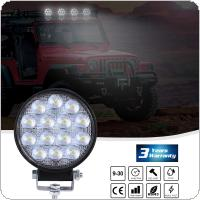 2pcs 140W 6000K 14000LM Circular Waterproof LED Work Light for Off-Road Suv / Boat / 4X4 Jeep / Truck