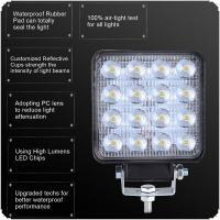 2pcs 160W 6000K 16000LM Square Waterproof LED Work Light for Off-Road Suv Boat 4X4 Jeep JK 4Wd Truck