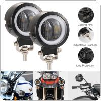 2pcs/set 40W 8000LM 3 Inch Waterproof Round LED Angel Eyes Light Bar Spot Light Motorcycle Offroad Car Boat Led Work Light