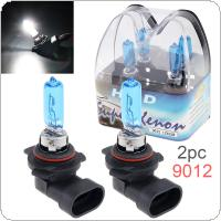 2pcs 12V 9012 55W 6000K White Light Super Bright Car Halogen Lamp Auto Front Headlight Fog Bulb