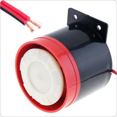 Black & Red 105dB Reversing Back up Alarm Horn Speaker for Motorcycle Car Vehicle