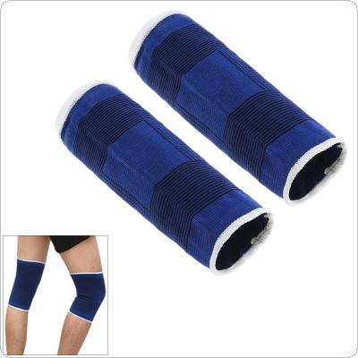 1Pair Unisex Blue Support of the Knee Protection Professional Basketball Shoe Sport Knee Bandage Knee Brace Breathable