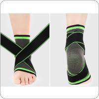1Pcs Adjustable Elastic Ankle Sleeve with Bandage Ankle Support Protector Guard for Basketball Gym Fitness Ankle Brace Strap