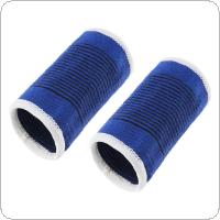 1Pair Unisex Blue Elastic Fitness Powerlifting Sport Bandage Wristband Hand Cotton Gym Support Wrist Brace Wrap Tennis
