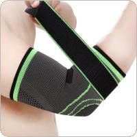 1Pcs Adjustable Breathable Knitted Protectors Support Safety Protective Clothing Sports Pressurized Bandage Outdoor for Basketball Fitness Elastic Arm Elbow