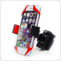 Bike Bicycle Motorcycle Handlebar Mount Holder Phone Holder with Silicone Support Band Fit for iPhone / Samsung GPS