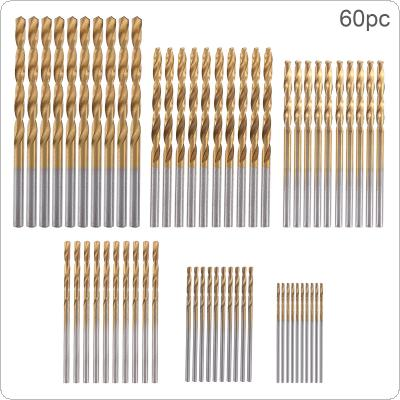 60pcs/set High Speed Metric HSS Twist Drill Bits Coated Set 1.0MM - 3.5MM Stainless Steel Small Cutting Resistance for Hole Punch
