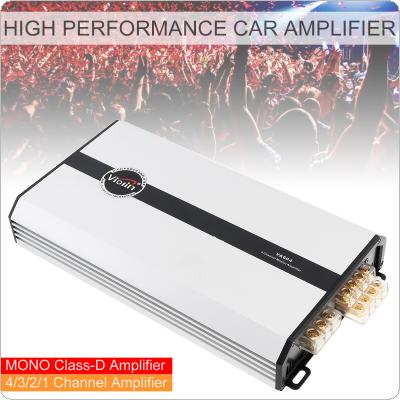 VA604 4 Channel Class D Digital Aluminum Alloy High Performance Car Stereo Amplifier Car Media Systems for Car / Home