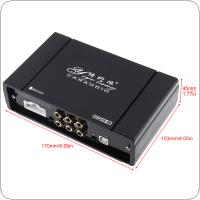 31 Bands 4 x 60W Car Digital Audio Processor DSP Amplifier with WIFI Functions Support Computer / Android  Phone EQ High Precision Tuning