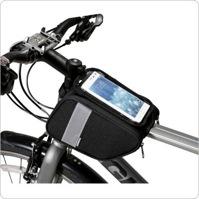 Cycling Bicycle Bike Front Frame Bag Cell Mobile Phone Bag Case Holder Case Pannier 6.5in Phone
