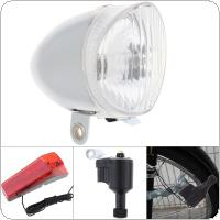 6V 3W White Bike Bicycle Dynamo Lights LED Self-powered Front Light Headlight and Rear Light LED Lamp Set Safety for Bicycle