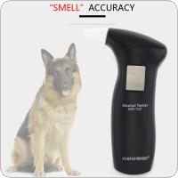 LCD Display Digital Alcohol Tester with 4pcs Mouthpieces Police Alert Breath Alcohol Tester Device Breathalyzer Analyzer