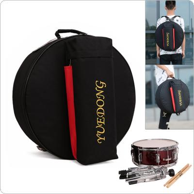 14 Inch Snare Drum Bag 15mm Add Cotton Drum Sticks Stand Percussion Instrument Waterproof Oxford Backpack