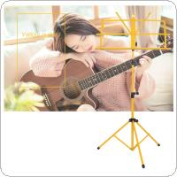Colourful Folding Lightweight Music Stand Aluminum Alloy Tripod Stand Holder Height Adjustable with Carrying Bag
