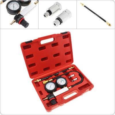 Universal 0~100 PSI / 0~7 Bar Portable Replaceable Cylinder Leak-Down Engine Compression Tester Gauges Kit