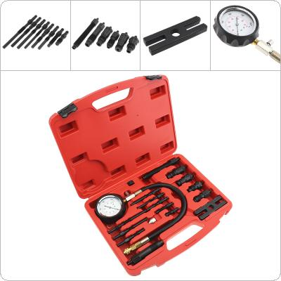 Universal 0~1000 PSI / 0~70 Bar Portable Replaceable  Diesel Engine Compression Diagnostic Pressure Tester Kit